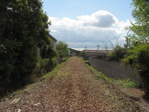 三木鉄道三木線廃線路盤