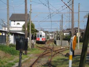 豊橋鉄道三河田原駅を望む