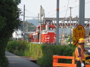 西脇市駅非電化側線に入るDE10 1152