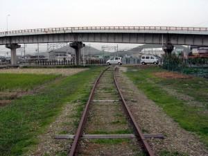 北沢産業網干鉄道廃線跡始まり