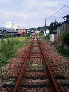 廃線後の三木鉄道三木駅