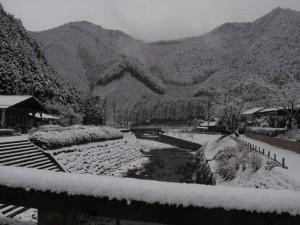 雪の大晦日 道の駅R427かみ