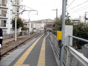 和田岬駅ホームより入口方向