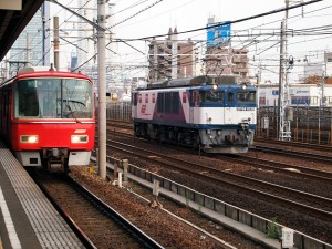 EF64形1039と名鉄3500系