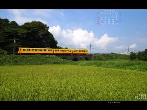 9月4対3画面用壁紙三岐鉄道北勢線3連めがね橋