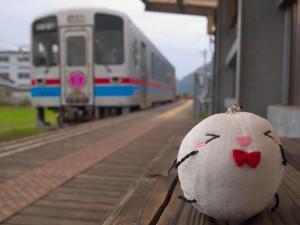 徳丸駅ホームにてシモツキンと列車