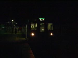 終着西脇市駅到着翌朝は谷川行き