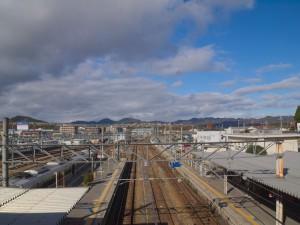 篠山口駅福知山方面を望む