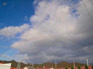 西脇の空に架かる虹