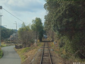 北条鉄道木立のトンネルと第4種踏切