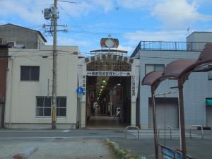 かつての駅前の商店街か