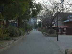 高砂駅の先 遊歩道1