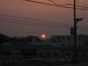小野市樫山 夕日