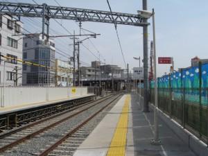 西新町駅東方を望む