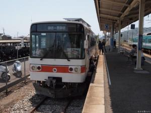 紀州鉄道御坊駅0番線停車中のキテツ1