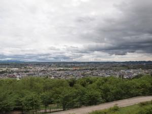播磨中央公園展望台より淡路島を望む