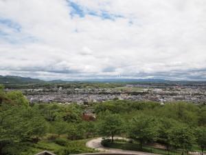 播磨中央公園展望台より六甲山を望む