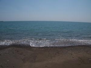 御坊の砂浜と太平洋