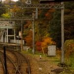 紅葉の藍那駅