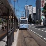 岡山電軌軌道岡山駅前電停2012年8月25日