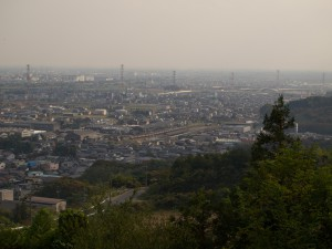 金生山より美濃赤坂に入る西濃鉄道上り列車