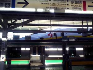東京駅東海道線ホームと東北新幹線120812
