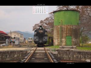 2012年11月通常壁紙若桜鉄道2若桜駅C12