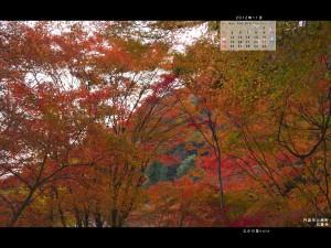 2012年11月通常壁紙石龕寺の紅葉2