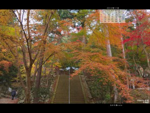2012年11月通常壁紙石龕寺の紅葉