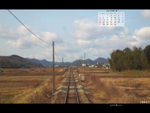 2013年1月4対3画面用壁紙北条鉄道