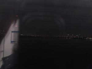 なんば線淀川橋梁から大阪夜景