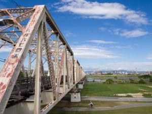 左岸より淀川橋梁