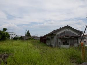 昼飯駅駅舎と構内美濃赤坂方