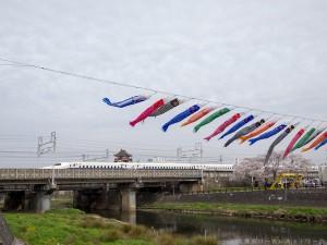 五条川と清須城とN700A