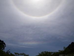 日暈と水平環アーク