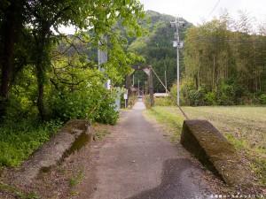 広田の吊り橋正面