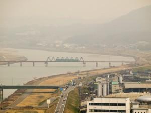 加古川橋梁を渡る上り103系
