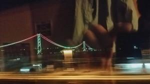 サンライズから明石海峡大橋