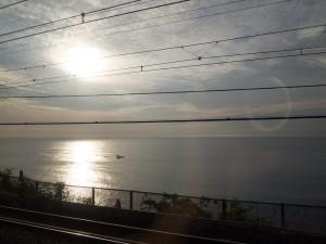 根府川の海岸