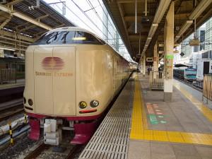 サンライズ東京駅着
