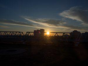 サンライズ瀬戸から日の出