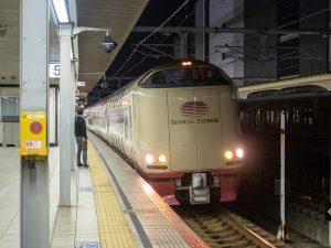 サンライズ瀬戸285系姫路駅