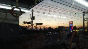 JR朝霧駅付近